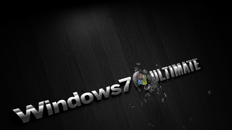 Windows, фон, темный, 7