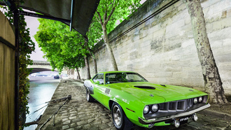 car, usa, 1971, plymouth, green, muscle, barracuda