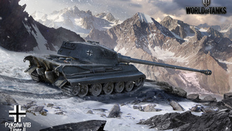 германия, world of tanks, арт, тигр 2, танки, tiger 2, wot, танк, горы