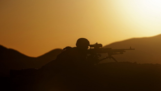 marine corps, military, sunset security