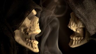 , macro, skeleton, scary, skeleton chatter, halloween