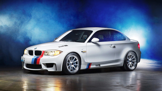 bmw 1m coupe, тюнинг, бмв, дым