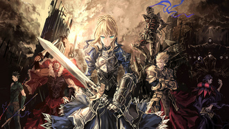 saber, lancer, rider, assassin, archer, доспехи, berserker, fatezero, caster, слуги
