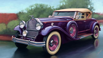 packard, eight sport phaeton, машина. арт, deluxe