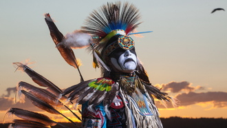 the freedom of flight, aboriginal, dancer, northwest territories