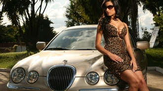 jaguar, girl