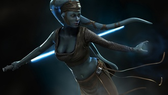 lightsaber, star wars wallpaper, световой меч, aayla secura, aayla