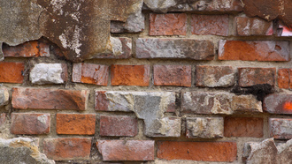 broken bricks, reboque, pattern, brick, wall