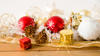 gifts, pinecone, merry christmas, toys, new year, decoration, balls