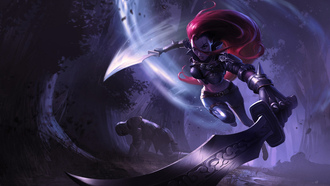 lol, katarina, sinister-blade, league-of-legends, меч