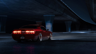 dodge, challenger, avant, garde, wheels, american, muscle, car, candy