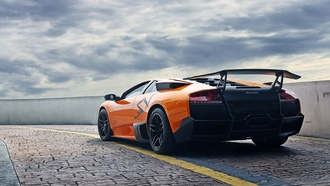 murcielago, lp670-4 sv, мурсиэлаго, ламборгини, orange, lamborghini