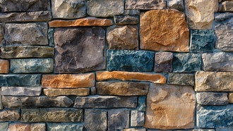 colorful pattern, wall, stone