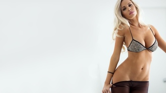 body, models, devin justine, blondes, women, stockings, girls, tits, beautiful, boobs, lingerie