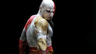 men, costume play, god of war, model