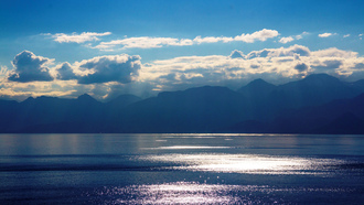 Blue Memories, Antalya, clouds, landscape, mountains, mediterranean sea