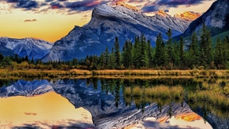 банф, canada, alberta, альберта, vermillion lakes, banff national park, mount rundle