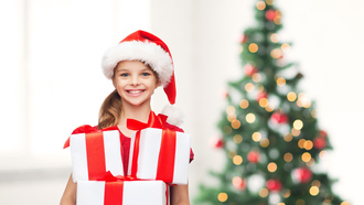 little girl , child, children, gifts, new year , happy, christmas tree, smile, merry christmas