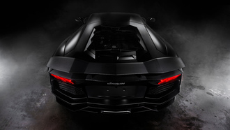 lamborghini, johan lee photography, aventador, matte black, by perillo collision center