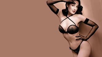 brunette, smile, lingerie, dita von teese, international burlesque star, dita, playmate, dancer, bra, retro, pin up, smile, sexy