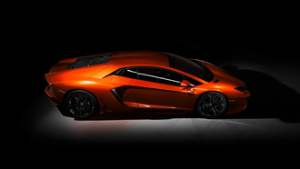lp-700, lamborghini, dark, orange, aventador, side view