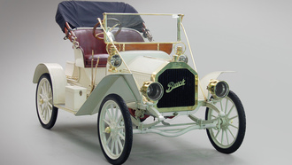 ретро, touring runabout, model 10, 1908, кабриолет, buick, белый