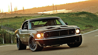 обои, 1969, mustang, muscle, ford, wallpapers, car