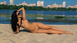 beach, nude, legs, pussy, tits, sunglasses, sand, water, shaved, jana k, sexy plum, juicy, beauty, hot, kara, macy b, naked, sun