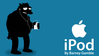 barney, simpsos, ipod, apple