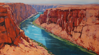 арт, artsaus, рисунок, colorado river