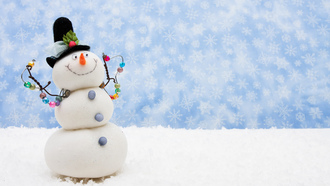 scarf, holidays, christmas, праздники, snow, snowman, new year, snowflake