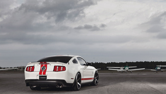 muscle car, shelby, mustang, мускул кар, ford, мустанг, форд, белый, gt500