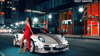 nfs, turbo, most wanted, porsche, платье, smotra, брюнетка, 911