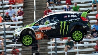 fiesta, ken block, ford, фиеста, форд, rally, вид сбоку, авто, rallycross