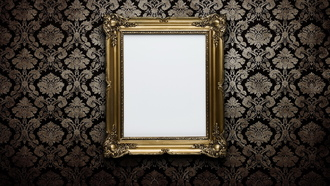 wall, frame, gold, white