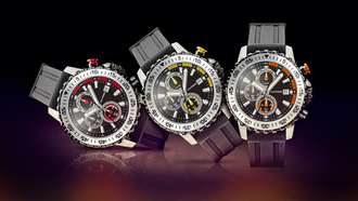 watches, three, red, yellow, 3, jack pierre,  orange