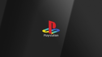 Logo, PS, Playstation, Sony, Sony Playstation, Логотип, Тёмный фон
