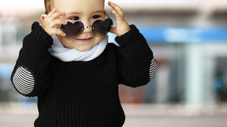 street, sunglasses, kid , heart , funny, смешно, ребенок, style, children, child