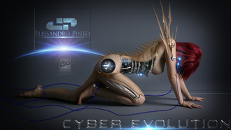 cyber evolution, elissandro, watch digital art, photomanipulation