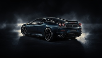 by durondesign, midnight black, ferrari f430
