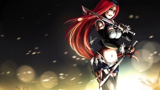 girl, gun, art, league of legends, katarina