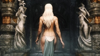 blonde, girl, the elder scrolls v skyrim