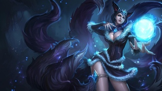 girl, art, league of legends, lol, ushi, ahri