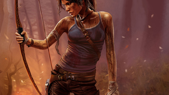 girl, lara kroft, igra, tomb raider