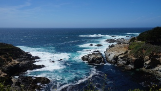 california state route 1, usa, west coast, pacific ucean, ocean