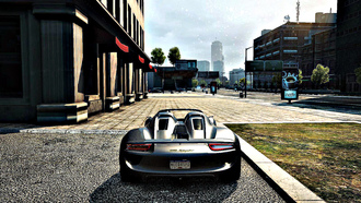most wanted, porsche 918 spyder, серый, стоянка