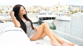 boat, women, model, angelina petrova