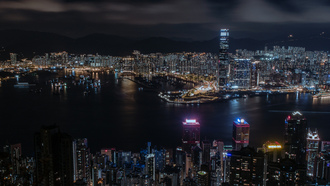 china, city, hong kong, panorama