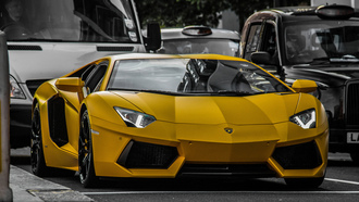 lamborghini, aventador, lp640 yellow, sport, car, sport cars, super car, ламборгини, авентадор, жолтый, улица, машины