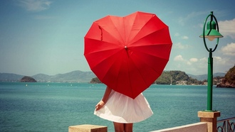 Картинки с красным зонтом